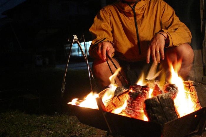 焚火と綿アノラックパーカー