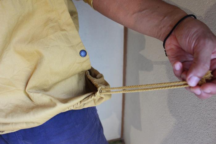 裾の調節紐