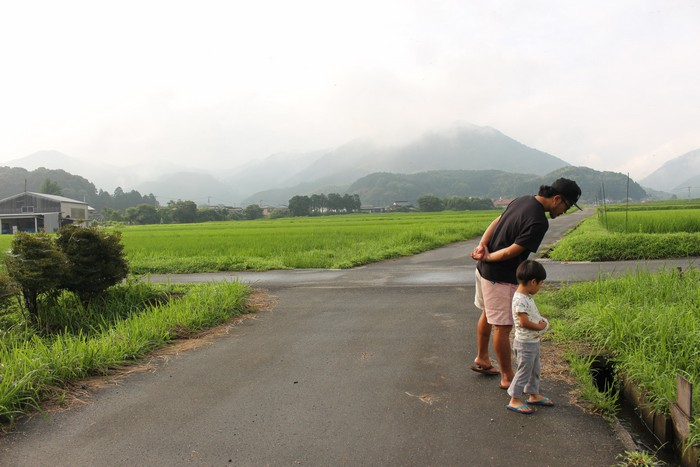 家族でお散歩