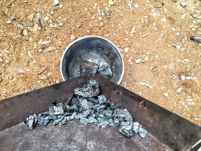 炭の処理 まとめて移す