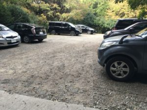 昭和の森 猫石側 駐車場