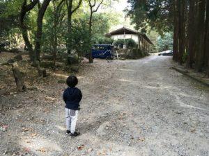 昭和の森 猫石側 キャンプ場への道