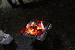 若杉楽園キャンプ場 焚火