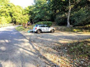 昭和の森 キャンプ 駐車スペース
