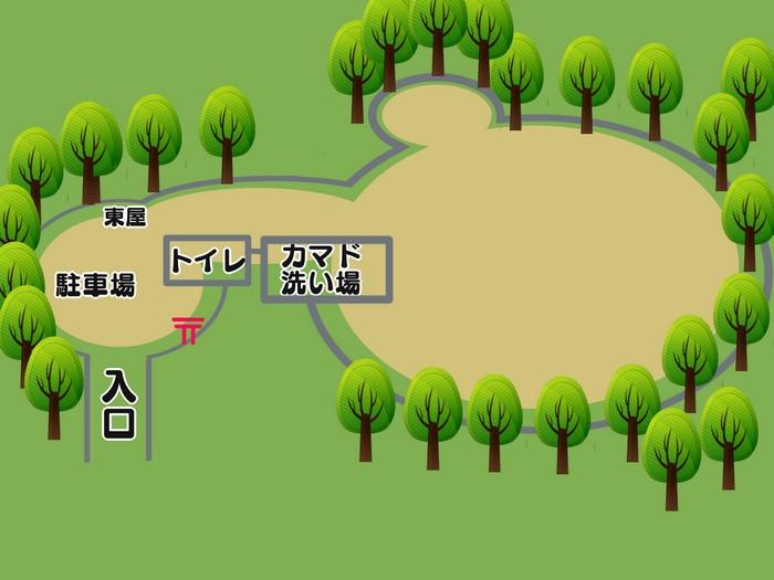 楽園キャンプ場 全体図