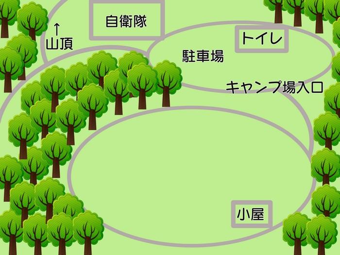 脊振山キャンプ場 全体図