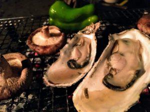 源じいの森 焼き牡蠣