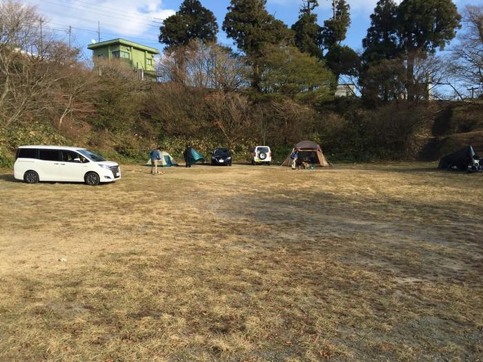 脊振山キャンプ場 テントサイト
