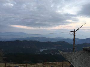 脊振山キャンプ場 山頂からの景色