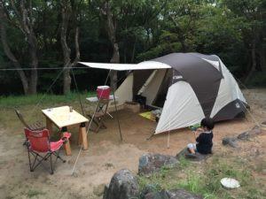 3段のテントサイト 1番上