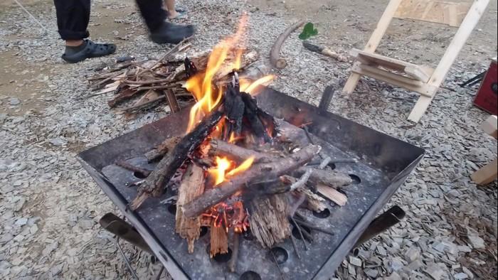 火のつけ方