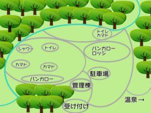 源じいの森キャンプ場 全体図